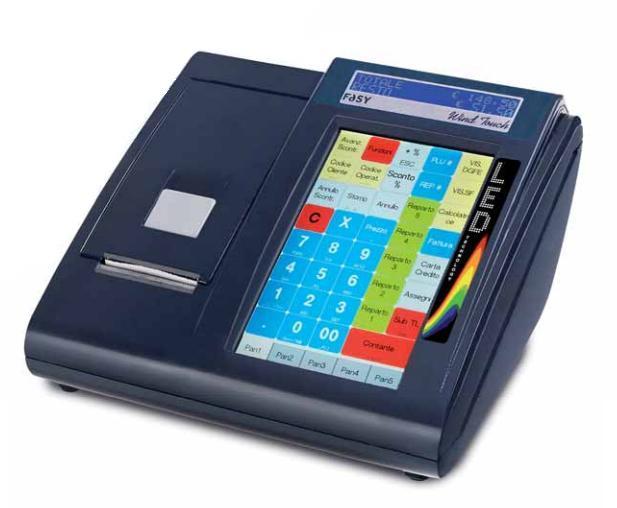registratore di cassa con touch screen integrato e collegamento al Vs. gestionale tramite rete LAN